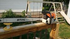 """STIHL MS 660 MAGNUM GAS CHAINSAW 36"""" BAR AND CHAIN FOR PARTS OR REBUILD"""