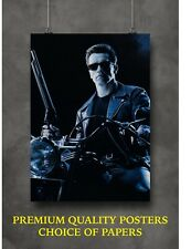 More details for terminator 2 arnold classic movie large poster art print gift a0 a1 a2 a3 a4