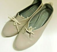 LiliMill Women's Closed Toe Taupe Leather Ballet Flat Pumps Loafer UK 3 EU 36