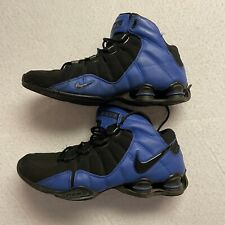 Nike Elite Shox Size 11 Black Blue Basketball Shoes EUC