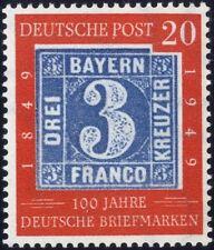 BRD Mi. 114II** 20 Pfg., Plattenfehler II, tadellos postfr.(180,-€) (9271/29)