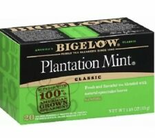 BIGELOW TEA,PLANTATION MINT 20 BAG (lot Of 6 Boxes) Best By 3/2023