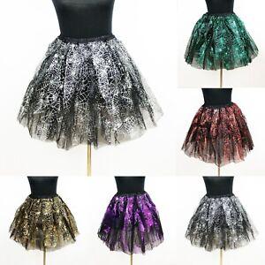Tütü Spinnennetz Helloween Tüllrock Petticoat Rock Ballett Fasching Cosplay Tutu