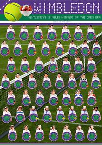 Wimbledon Men's singles Winners Poster A1 Tennis