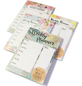 A4 Weekly Planner Pad 52 Sheets Meal Shop Message To Do Memo Notes Organiser New