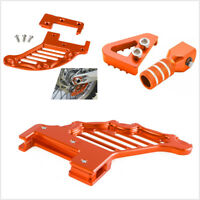 Orange CNC Aluminum Rear Brake Disc Guard Gear Shifter Lever Tip Pedal Step Kit