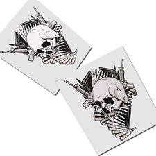 skull pegatina dibujo ADHESIVOS x 2 Unidades Estilo #009 Gótico Motero DEATH