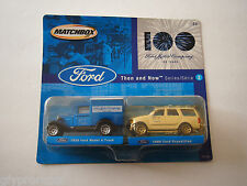 MATCHBOX - FORD MOTOR COMPANY - 100 YEARS - THEN AND NOW SERIES