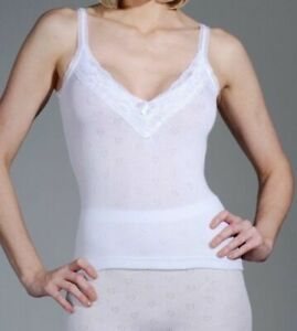 1 x Pack Ladies Snowdrop Underwear Thermal Camisole Vest with Lace V Neck