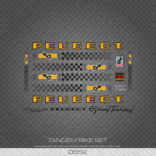 0552 Peugeot Grand Touring Tandem Bicycle Frame Stickers - Decals - Transfers