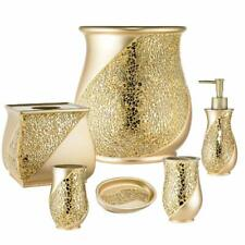 Popular Bath Sinatra Gold Basket, Tissue, Cup, Soap Dish, Toothbrush, Lotion
