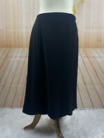 RALPH LAUREN Black Label Size US 4 Black Wool Blend Scalloped Hem A Line Skirt