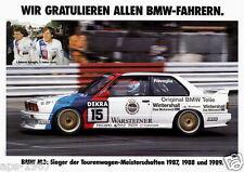 BMW E30 M3 DTM BMW Motorsport Large poster print #10