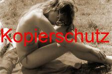 Frau Nackt Akt Erotik Brüste Po Foto XXII POSTKARTE 10,5 x 14,8 cm SEPIA