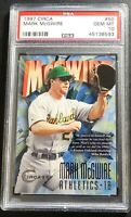 1997 MARK McGWIRE CIRCA #50 PSA 10 OAKLAND ATHLETICS POP 3