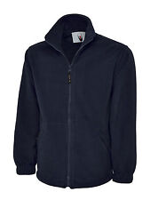 Uneek Uc604 Unisex Classic Micro Fleece Jacket Front Zip Work Casual Uniforms Navy XL