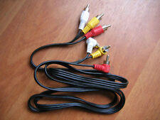 3-RCA Angle 90 degree male to 3-RCA Straight male AV audio video cable 1.5M