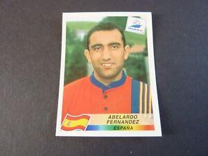 Abelardo Fernandez - Panini France 98 Football Sticker Nr Mint! Spain Black Back