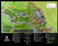 NEW 2021 Walt Disney World Saratoga Springs Resort Map + 4 Theme Park Guide Maps