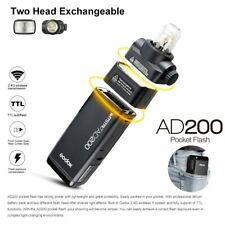 Godox AD200 2,4 G TTL HSS Doppelkopf Tasche Blitz Blitzgerät + 2900mAh Batterie