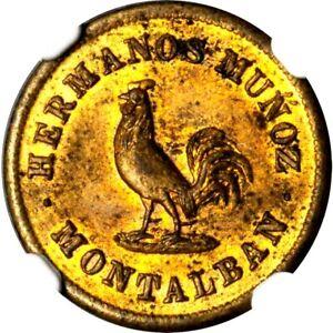 1864 Venezuela Hermanos Munoz 1/4 Real Token, Montalban Carabobo, NGC MS 61