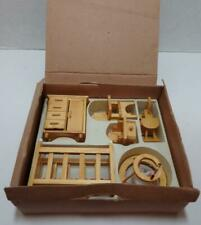 Vintage New in Box Vintage Doll House Furniture Babys Room Rocking Chair Wood