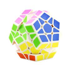Megaminx 12 sticker rubik education toys, speed magic cube puzzle white