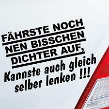 Autoaufkleber DICHT AUFFAHREN! Auto Car Tuning Sticker Aufkleber DUB OEM JDM 003