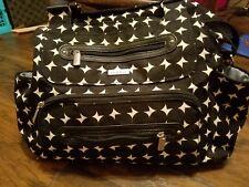 JJ Cole diaper Bag,  black and white, crossbody, EUC