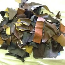 Soft Leather hide offcuts scraps.mixed browns and tan 2 kilos