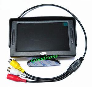 "4.3"" TFT LCD Car Rear View Reversing Color Monitor DVD VCR For Backup Camera"