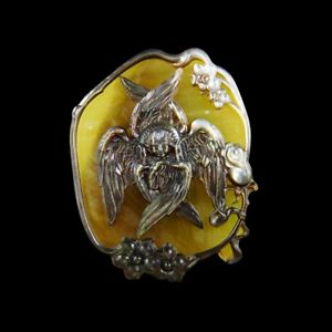Carved Angels Seraphim MOP Pearl CAB GG001136