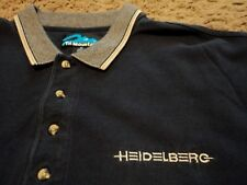 Men's HEIDELBERG Germany Saphira Printing Press Consumables Polo Golf Shirt XL
