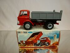 TEKNO DENMARK 914 FORD D-800 TRUCK TIPPER - RED 1:50 - GOOD CONDITION IN BOX