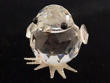 Vintage Swarovski Crystal Small Chick Figurine w/Metal Feet & Beak #7651