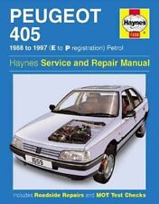 Peugeot 405 Petrol Service and Repair Manual: 1988-1997(E to P Registation) by A