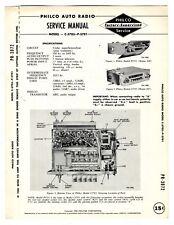 PHILCO  -  C-5705 - P5701 - AUTO RADIO  SERVICE MANUAL  ORIGINAL BOOK
