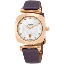 Glashutte Pavonina White Mother of Pearl Diamond Dial Ladies Watch