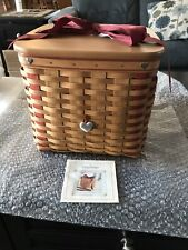 New ListingLongaberger Large Sweetest Gift Sweatheart Basket For Your Valentine