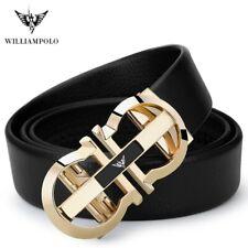 Williampolo Luxury Designer Genuine Leather Mens Strap Automatic Buckle Belt New