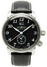 Zeppelin Count Dual Time Big Date Display Black Dial 7644-2 Watch