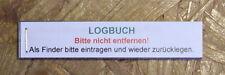 Geocaching Geocache- Logbuch für PETling NEU