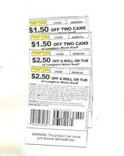 Longhorn Smokeless Tobacco Coupons $8.00 Savings Moist Snuff