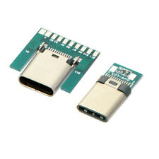 Cablecc 24pin USB 3.1 Type C Male & Female Plug & Socket Connector SMT with PCB