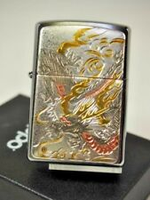 Zippo Dragon Electroforming Japanese Beautiful Design Collection Japan F/S New