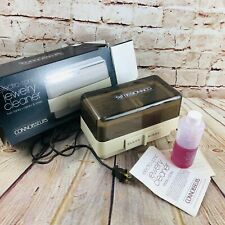 Connoisseurs Electro-Sonic Jewely Cleaner Twin Tanks Clean & Rinse EUC