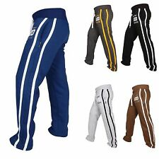 Mens Fleece Joggers Trousers Cotton Track Suit Bottom Jogging Boxing MMA Pants