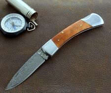 Couteau Boker Magnum Lord Damas Lame Acier 37 Couches Manche Bois 01MB790DAM
