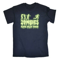 Funny Novelty T-Shirt Mens tee TShirt Zombies Hate Fast Food Glow In The Dark 1
