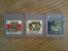 Lot TMNT TEENAGE MUTANT NINJA TURTLES 1 2 3 - GAME BOY GB -- Japan (Nintendo)